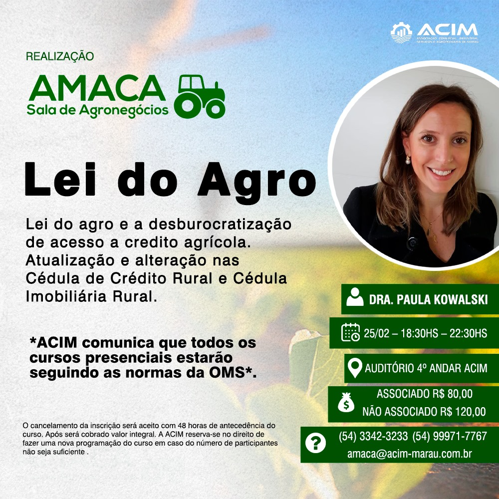 amaca lei do agro